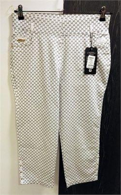 Desenli Likralı Toparlayıcı Kapri Pantolon