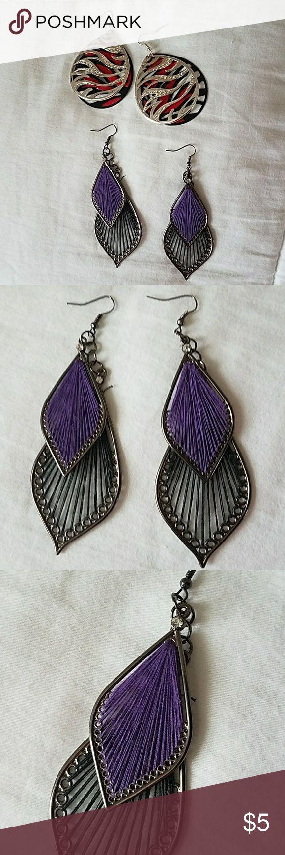 Earrings Costume dangle earrings bought from body central Body Central Jewelry Earrings