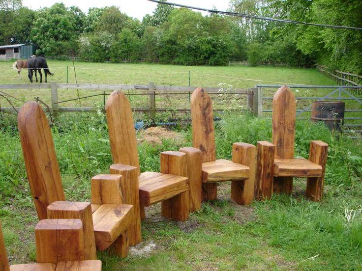 railway sleepers - throne seat