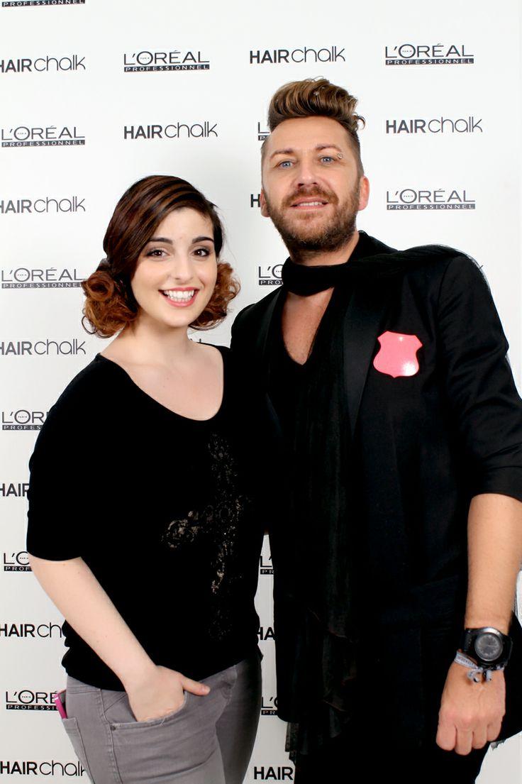 #HAIRCHALK Party à l'Académie L'Oréal Professionnel. Merci à Jérôme Guézou coiffeur ambassadeur L'Oréal Professionnel ! #kihouu