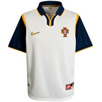 Nike Football Portugal 98 Jersey - White/ Nike Football Portugal 98 Jersey - White/ Midnight Navy/ Yellow Gold. http://www.comparestoreprices.co.uk/football-kit/nike-football-portugal-98-jersey--white-.asp