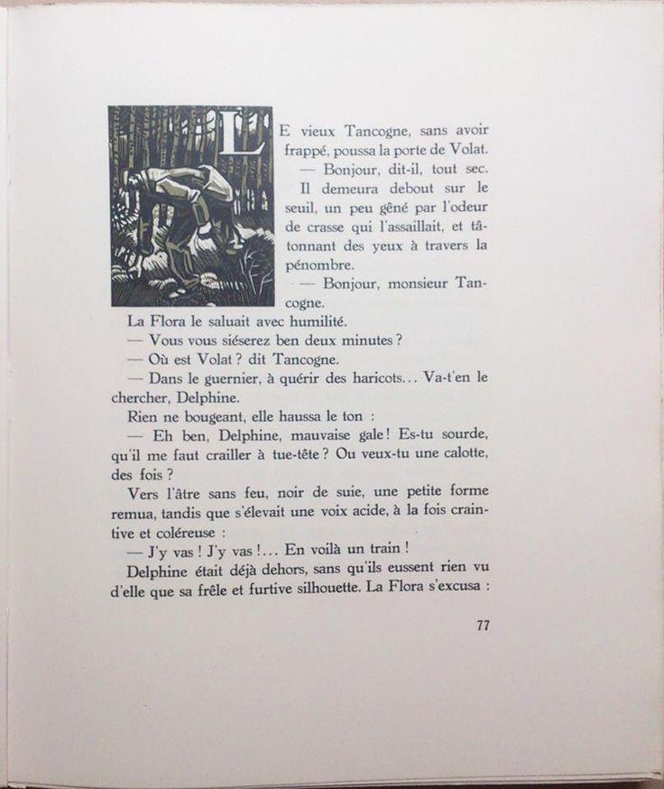 Livre de Maurice Genevoix, Raboliot, orné de bois originaux en plusieurs tons, gravés par Louis-Joseph Soulas. Cet exemplaire porte le numéro 411, VENDU. www.auvieuxchaudron.fr