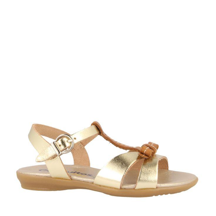 Sandalias de Niña Platino Metalizado