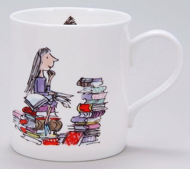 Matilda mug: Quentin Blake, Dahl Matilda, Roald Dahl Mugs, Bookish Things, Roalddahl, Bookish Buying, Book Roald Dahl, Cartoon Drawings, Gifts Idea
