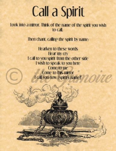 Call-a-Spirit-Spell-Book-of-Shadows-Page-BOS-Pages-Summoning-Spells-Wicca