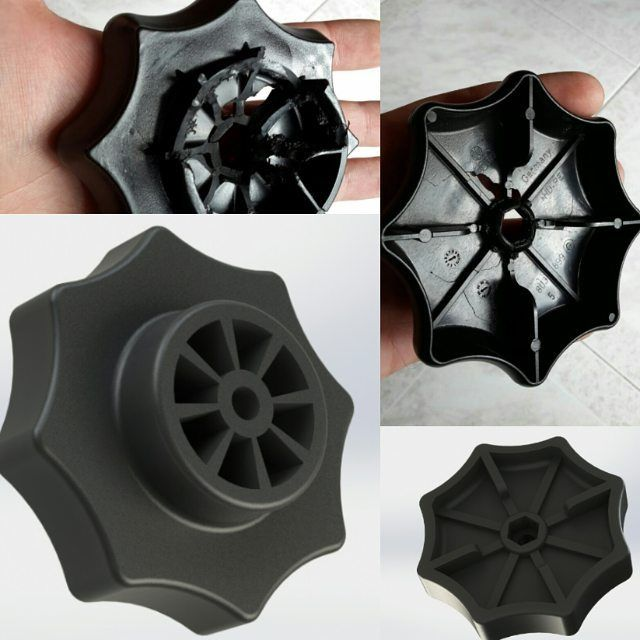 Ricostruzione 3D di un perno di fissaggio per ruote di scorta Audi/Volkswagen lesionato #3drap #3dprinter #3dprinted #3dprinting by 3drap