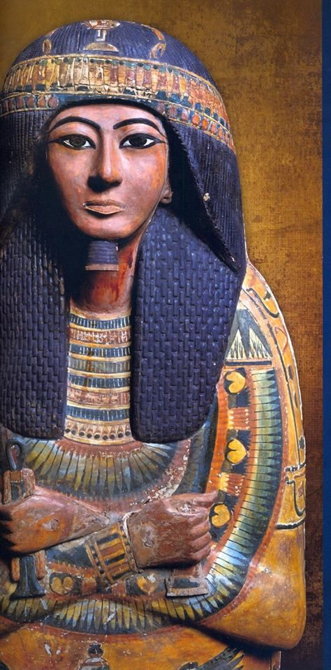 Outer Coffin, Tomb of Sennedjem, Deir el Medina. Sennedjem had the title 'Servant in the Place of Truth'  lived during the reigns of Seti I  Ramsses II of Egypt's Dynasty 19