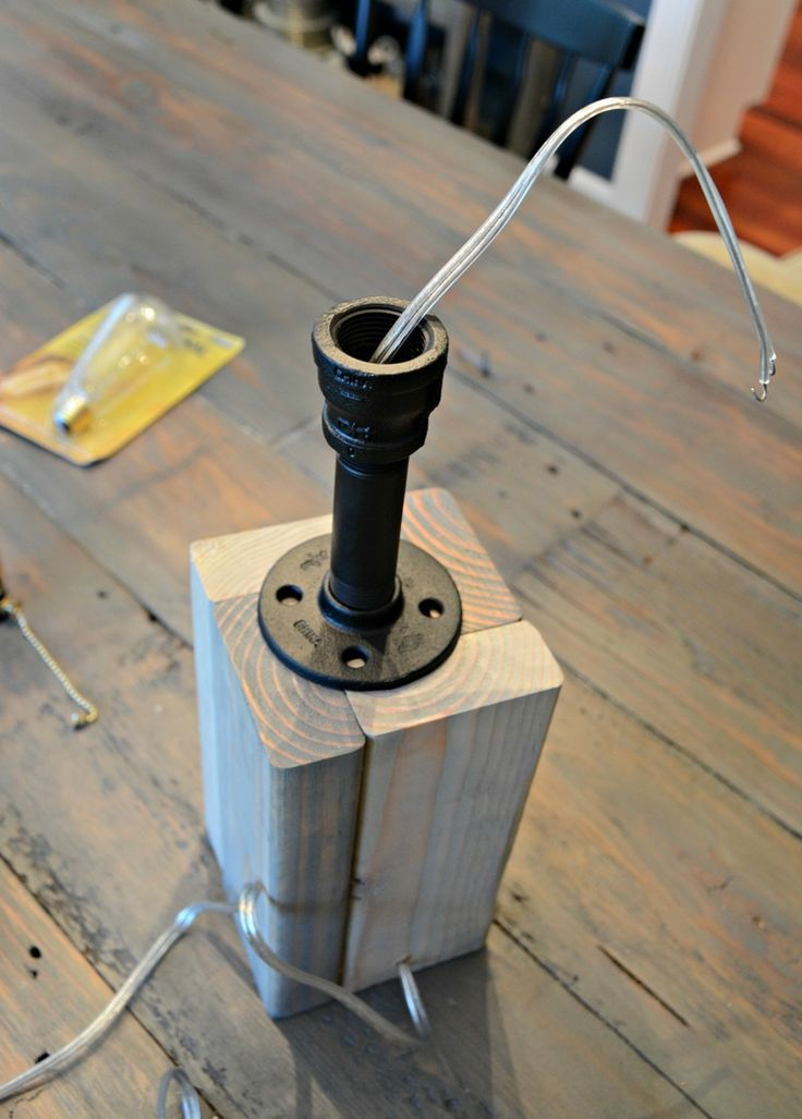 How to Make Your Own Industrial Lamp.  Easy DIY tutorial.