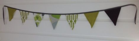 Bunting - Grey/Lime