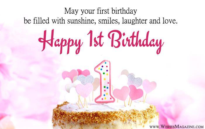 Happy 1st Birthday Wishes Happy 1st Birthday Wishes 1st Birthday Wishes Best Birthday Wishes