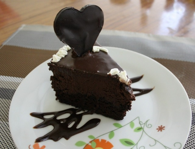 Chocolate Mousse Cake With Ganache