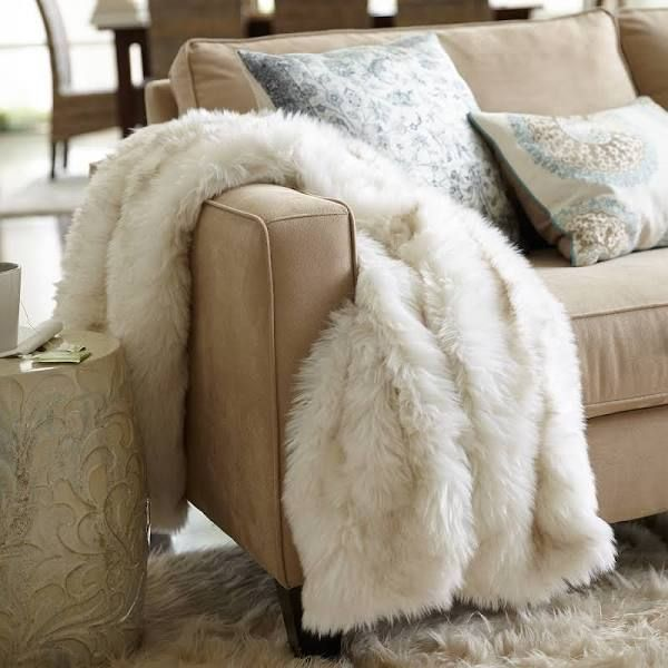 Luxe Faux Fur Throw - Arctic Fox Pier 1 Imports