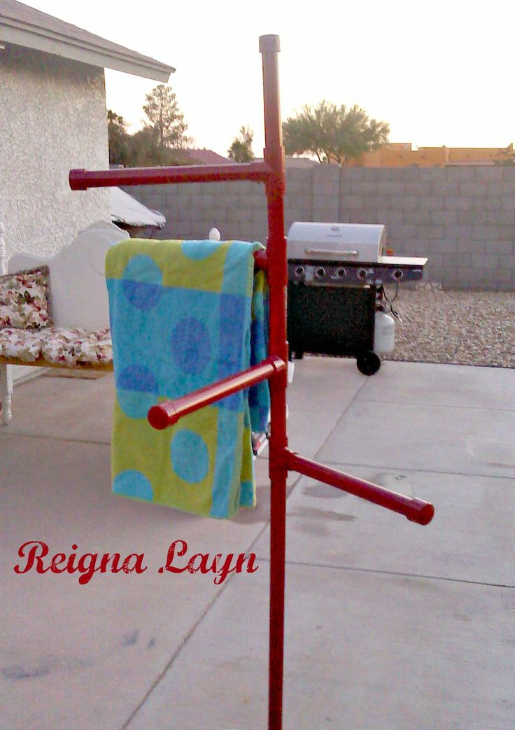 Reigna Layn Frontgate Pool Towel Stand Knockoff For The