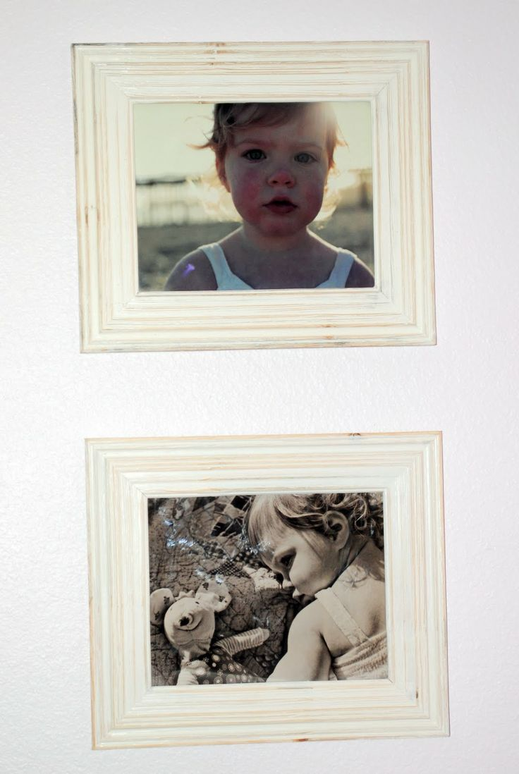 Diy your own shabby chic frame all you need is an for Shabby chic frames diy