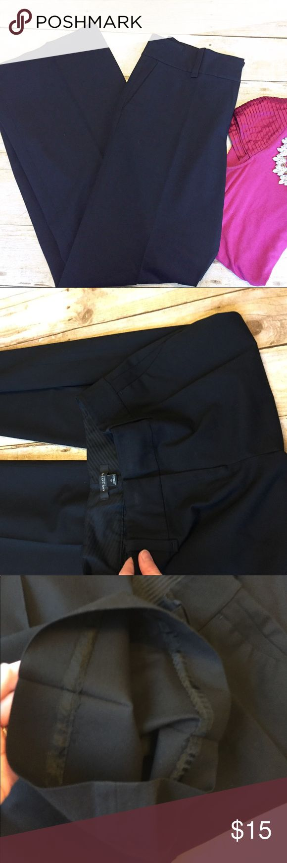 """Ann Taylor Dress Pants Suit Separate Size 0 black Great condition, smoke free home. Ann Taylor dress pants. Straight leg, 10.5"""" across leg opening. 30"""" inseam. 10.5"""" rise. No holes or stains. Not lined. Ann Taylor Pants Straight Leg"""