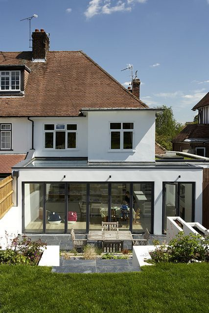 like the simplicity & shallow roof of extension | Kitchen Extension Ideas