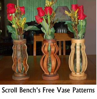 Scroll Bench's Free Vase Patterns