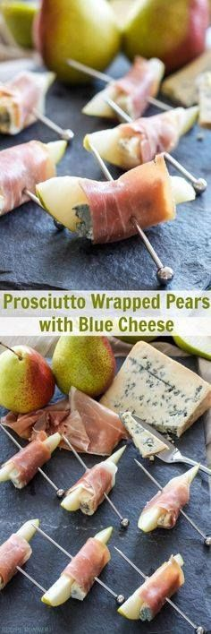 Prosciutto Wrapped P Prosciutto Wrapped Pears with Blue Cheese |...  Prosciutto Wrapped P Prosciutto Wrapped Pears with Blue Cheese | This 3 ingredients easy to make appetizer is sweet salty tangy and hard to stop after eating just one! Recipe : http://ift.tt/1hGiZgA And @ItsNutella  http://ift.tt/2v8iUYW