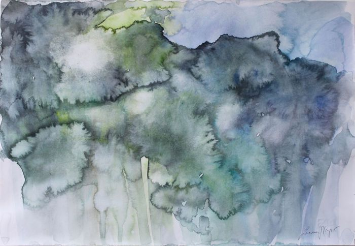 Zuzanna Niespor - White Memories II  #watercolor #acquerello #painting #pittura #zuzanna niespor