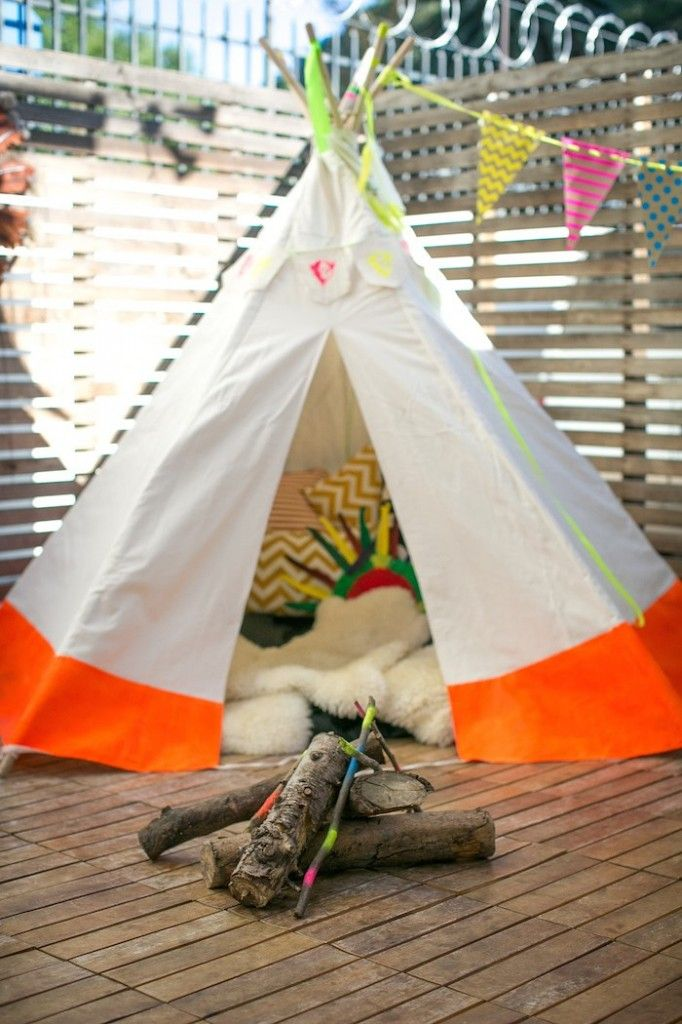 Neon Pow Wow Birthday Party via Kara's Party Ideas KarasPartyIdeas.com | The Place for ALL THINGS PARTY! (4)