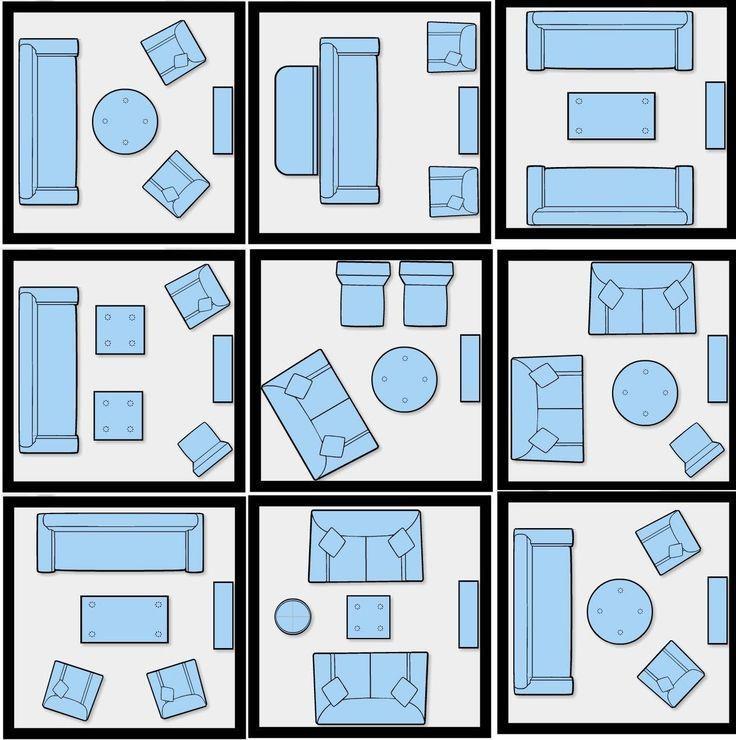 Schauen Sie, in wie vielen Weisen Sie die Möbel eines kleinen Hauses setzen können.