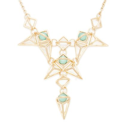 Perfect for those with an edge style! Love the jade and gold together.