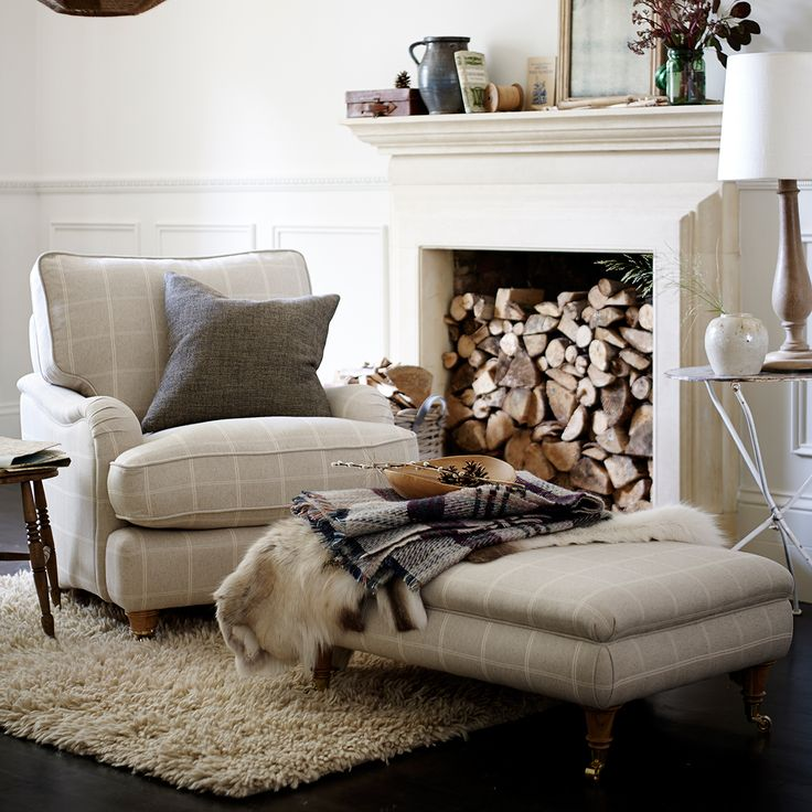 5 decorating ideas to steal from dfs - Make the most of your fireplace by stacking up logs of wood. More ideas on goodhousekeeping.co.uk