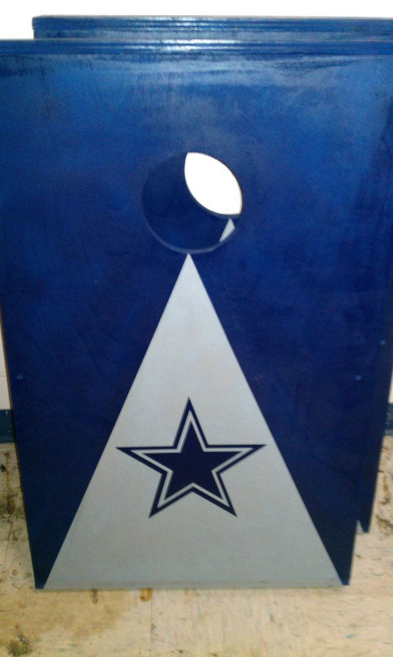 Dallas Cowboys cornhole boards with bags by ...