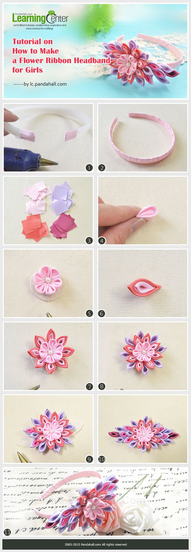 You can see many headbands for girls in shops, have you ever thought to make a headband by yourselves?