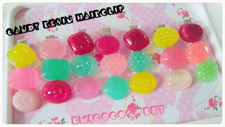 1 candy hair clip,resin candy,kawaii hair clip,handmade hair clip,cute hair clip