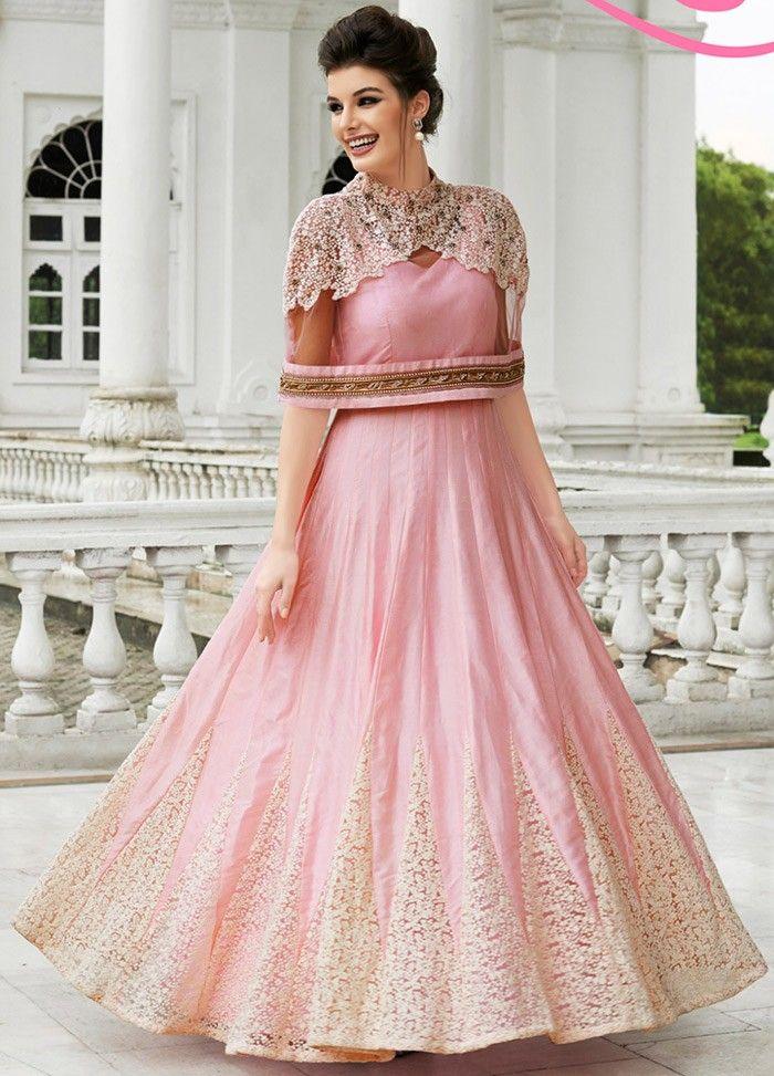 Pink Raw Silk Churidar #Designer #SALWAR #KAMEEZ