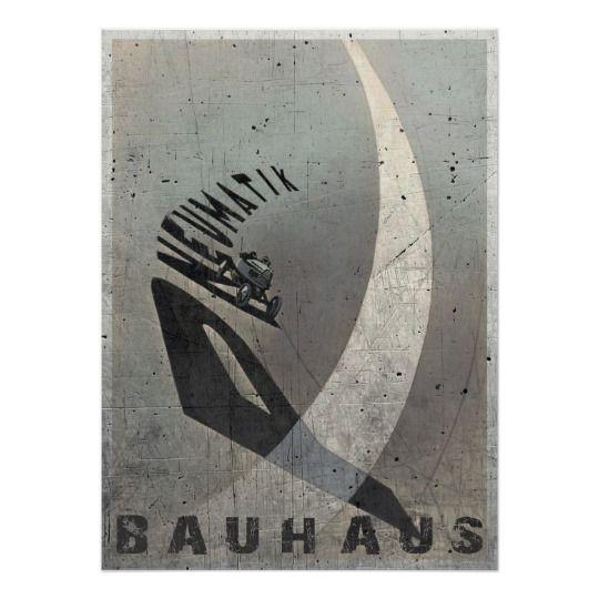 Poster with Vintage László Moholy-Nagy Print