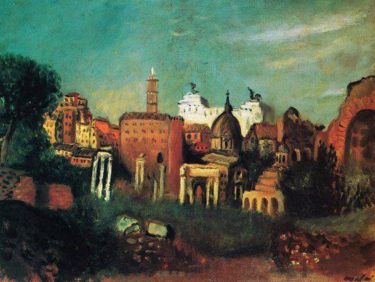 Mario Mafai  Il foro romano 1930