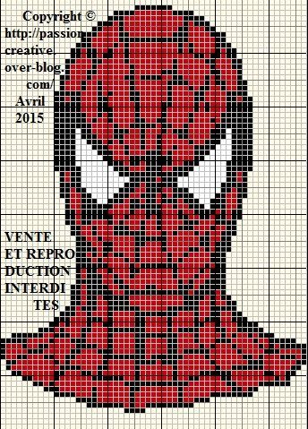 Grille gratuite point de croix spiderman point de - Grille indiciaire ingenieur de recherche ...