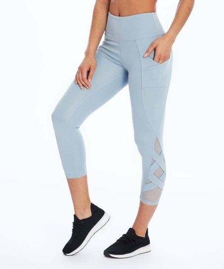 8c8378fe69841 Bally Total Fitness | Blue Fog Mesh-Accent Pocket High-Waist Exhale Capri  Leggings - Women in 2019 | Clothes & Shoes | Capri leggings, Leggings,  Women's ...