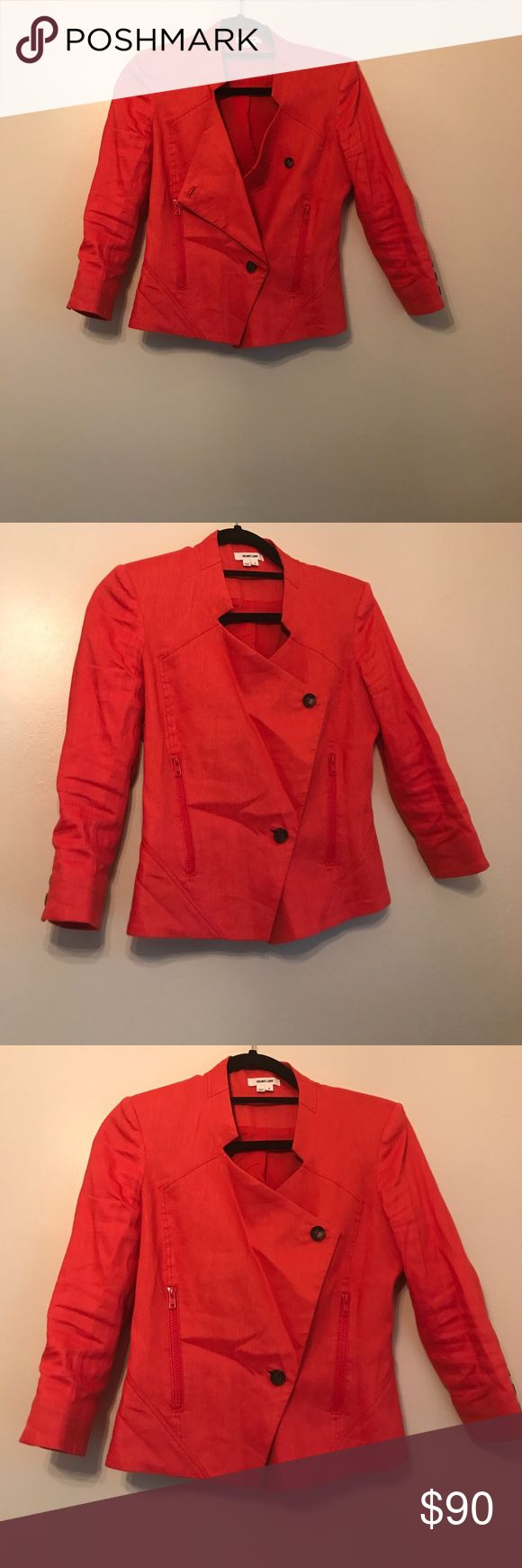 NWOT HELMUT LANG BLAZER HELMUT LANG BLAZER. This bright color definitely is a statement piece. Flawless condition Helmut Lang Jackets & Coats Blazers