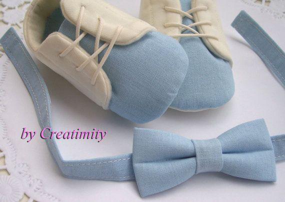 Christening baby boy shoessoft sole by CreatimityElegance on Etsy