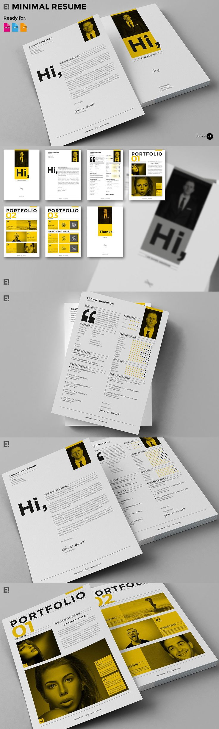profile in a resume%0A Make your resume and job application stand out with this bold graphic  template featuring unique typography