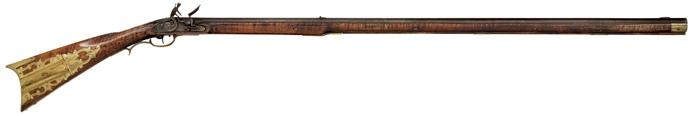 Kentucky Flintlock Rifle by A. Johnson, - Cowan's Auctions