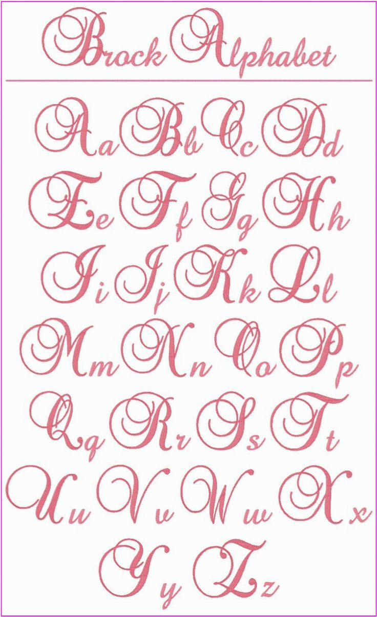 """! ! ! Brock Alphabet ! ! ! This is a beautiful, elegant alphabet that you'll want to use whenever you're looking for the perfect letters for a monogram. The upper case letters stitch at 3"""" tall and the lower case letters are between .75"""" to 2.25"""" tall. Use them on bed linens, kitchen items, towels, clothing, totes, anywhere you want to add a touch of elegance."""