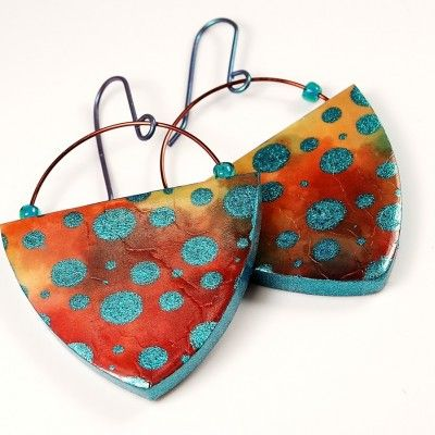 POLYMER CLAY TUTORIAL: Learn to make these earrings with the Opulent Tapestry Tutorial from The Blue Bottle Tree.