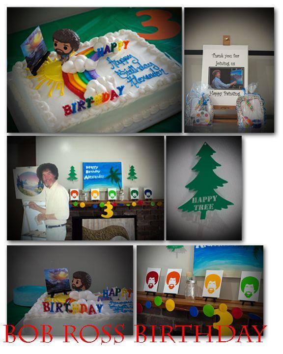 Bob Ross Birthday Party Bobross Bob Ross Birthday Bob Ross Birthday Party For Teens