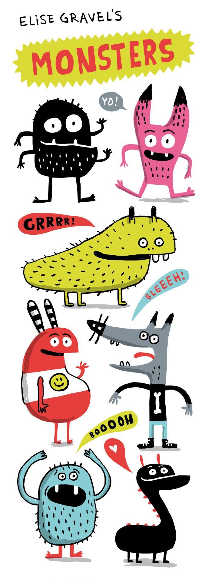 Elise Gravel Illustration • Cute monsters