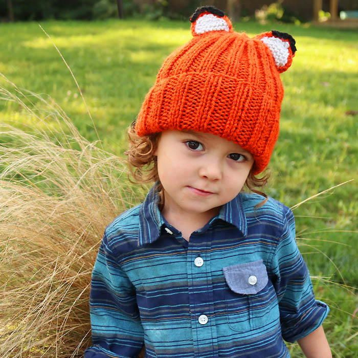 Feeling foxy? Check out this adorable knit hat pattern perfect for autumn weather.