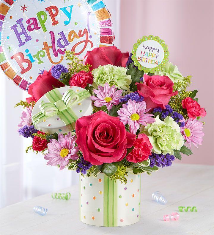 Happy Birthday Present Bouquet | Happy birthday flower, Birthday bouquet, Birthday flowers