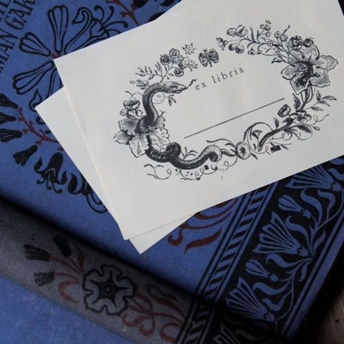 best bookplate labels  book label templates images on, Templates