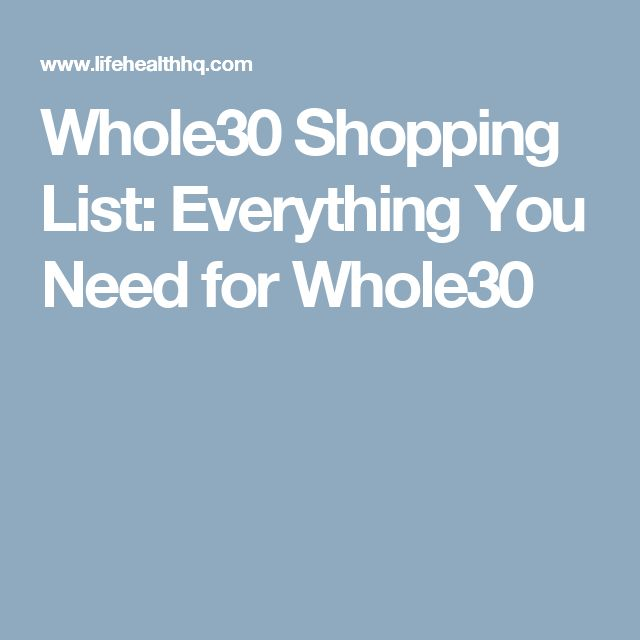 Whole30 Shopping List: Everything You Need for Whole30