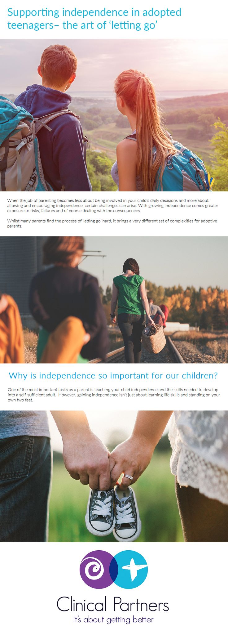 When the job of parenting becomes less about being involved in your child's daily decisions and more about allowing and encouraging independence, certain challenges can arise. With growing independence comes greater exposure to risks, failures and of course dealing with the consequences.   Whilst many parents find the process of 'letting go' hard, it brings a very different set of complexities for adoptive parents. #Parenting #Adoption