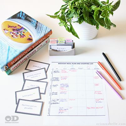 Mid-week dinner selections simplified thanks to Arianna Belle and clever office supply uses. See how here.: Stress Free, Plans Idea, Dinners Planners, Planners Sheet, Od Organizations, Menu Planners, Dinners Plans, Dinnerplan, Meals Plans
