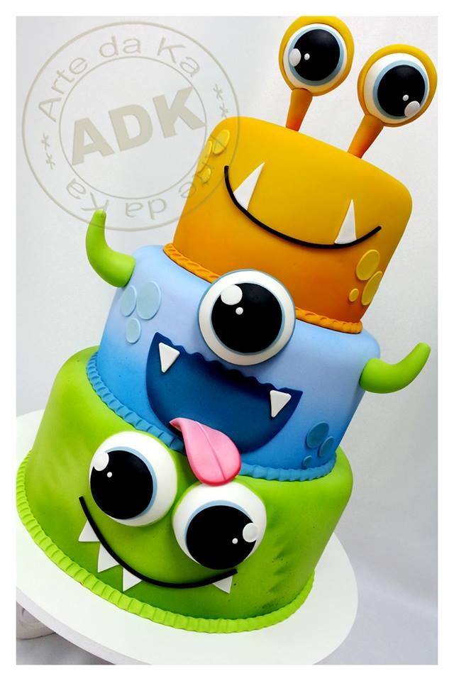 Monster Cake, where was this for Mason's party @Amber Lattie .... This is soooo cool!!